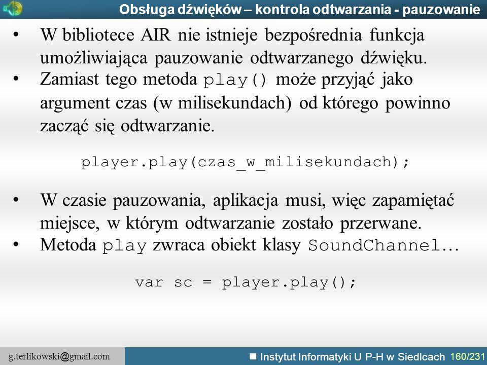 player.play(czas_w_milisekundach);