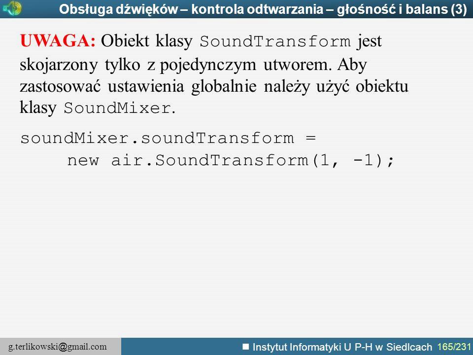 soundMixer.soundTransform = new air.SoundTransform(1, -1);