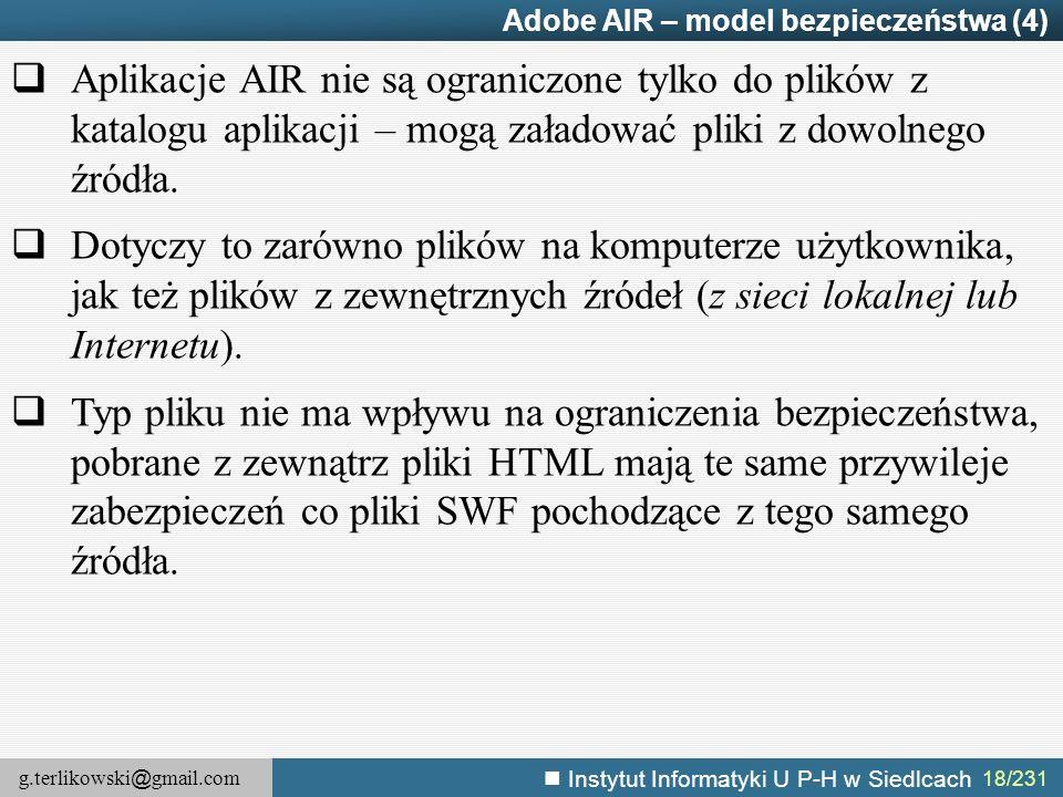 Adobe AIR – model bezpieczeństwa (4)