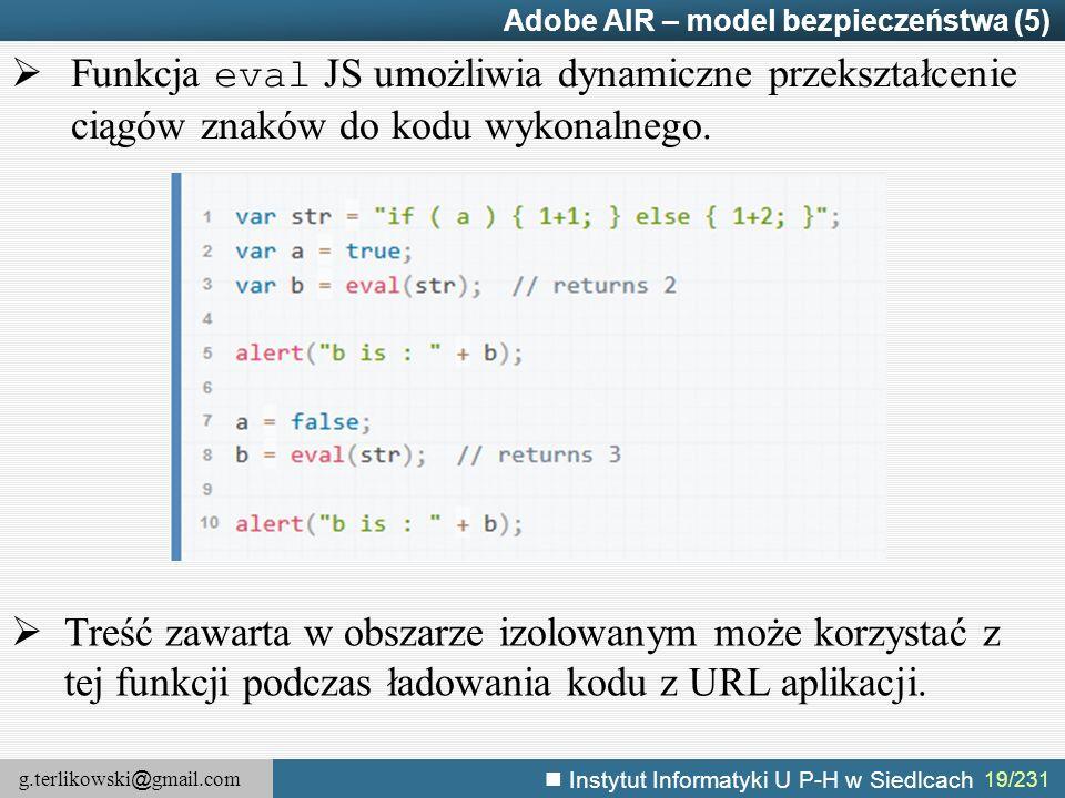 Adobe AIR – model bezpieczeństwa (5)