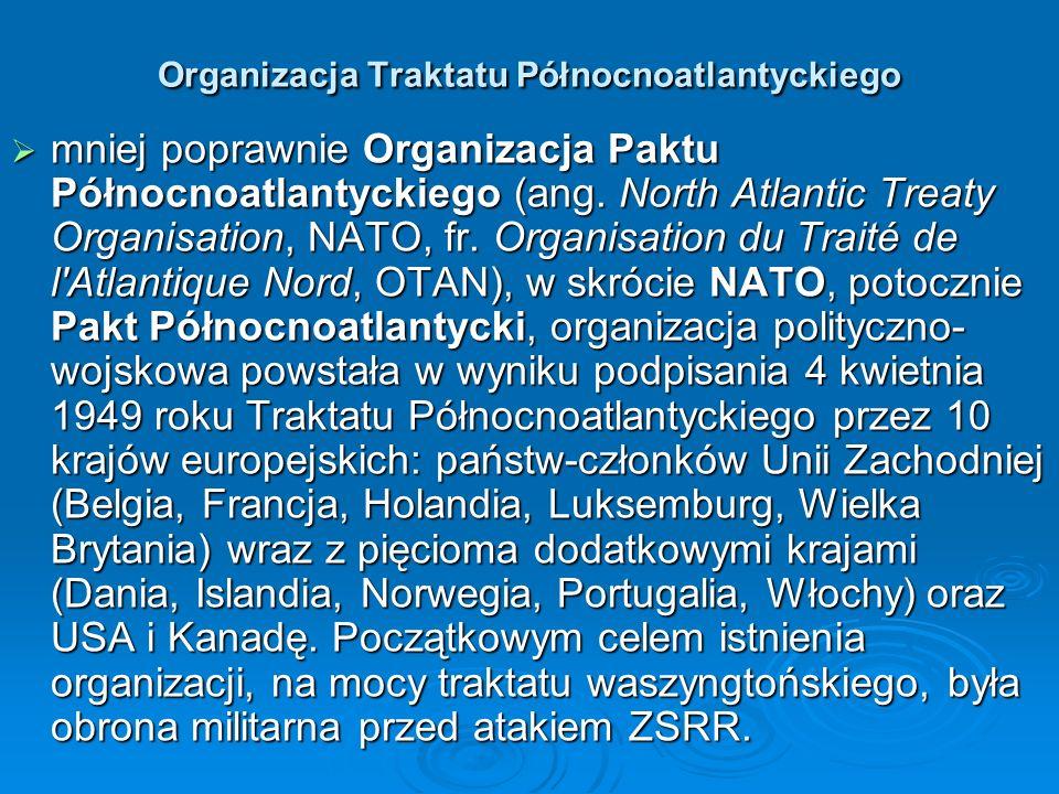 Organizacja Traktatu Północnoatlantyckiego