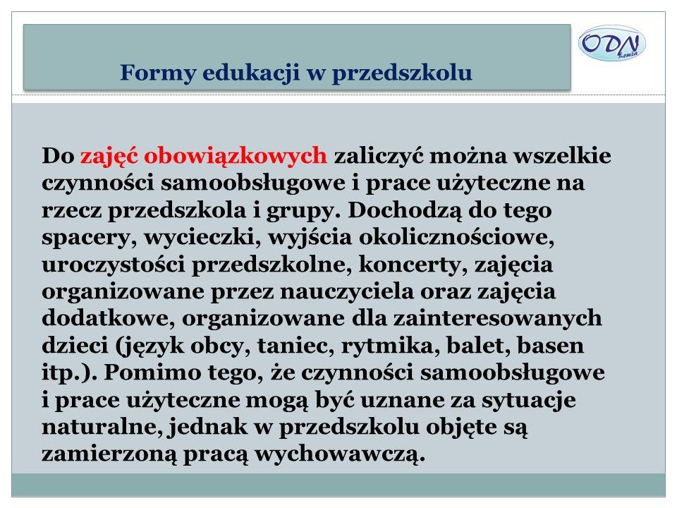 Formy edukacji w przedszkolu