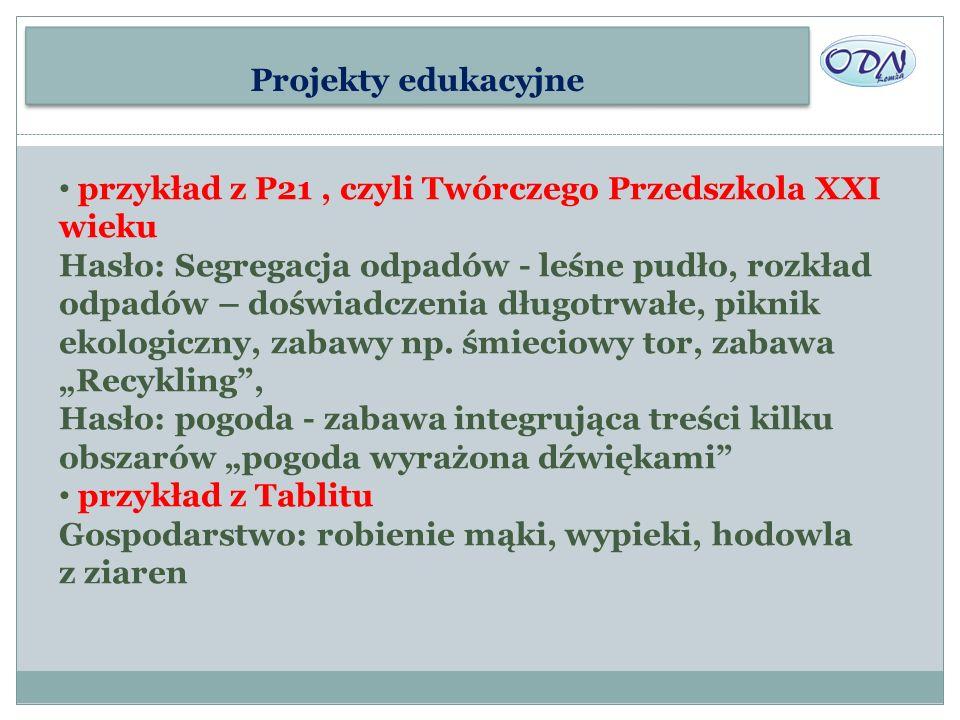 Projekty edukacyjne przykład z P21 , czyli Twórczego Przedszkola XXI wieku.