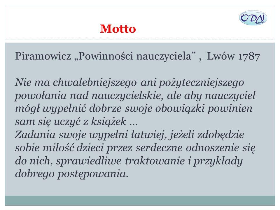 """Motto Piramowicz """"Powinności nauczyciela , Lwów 1787"""