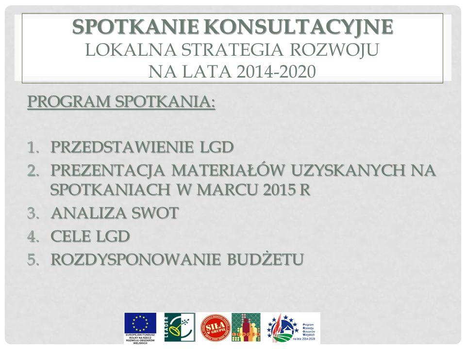 Spotkanie konsultacyjne LOKALNA Strategia Rozwoju NA LATA 2014-2020