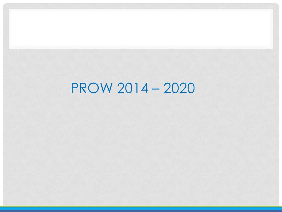 PROW 2014 – 2020