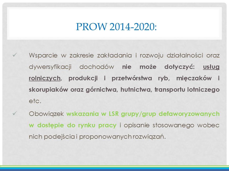 PROW 2014-2020: