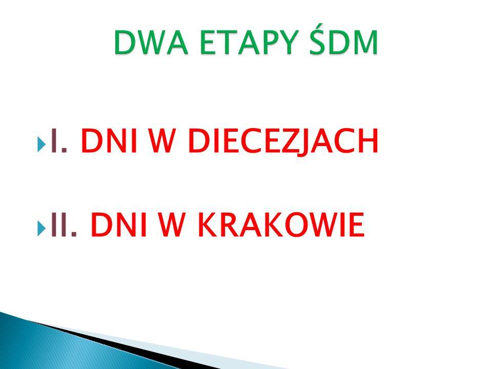 DWA ETAPY ŚDM I. DNI W DIECEZJACH II. DNI W KRAKOWIE