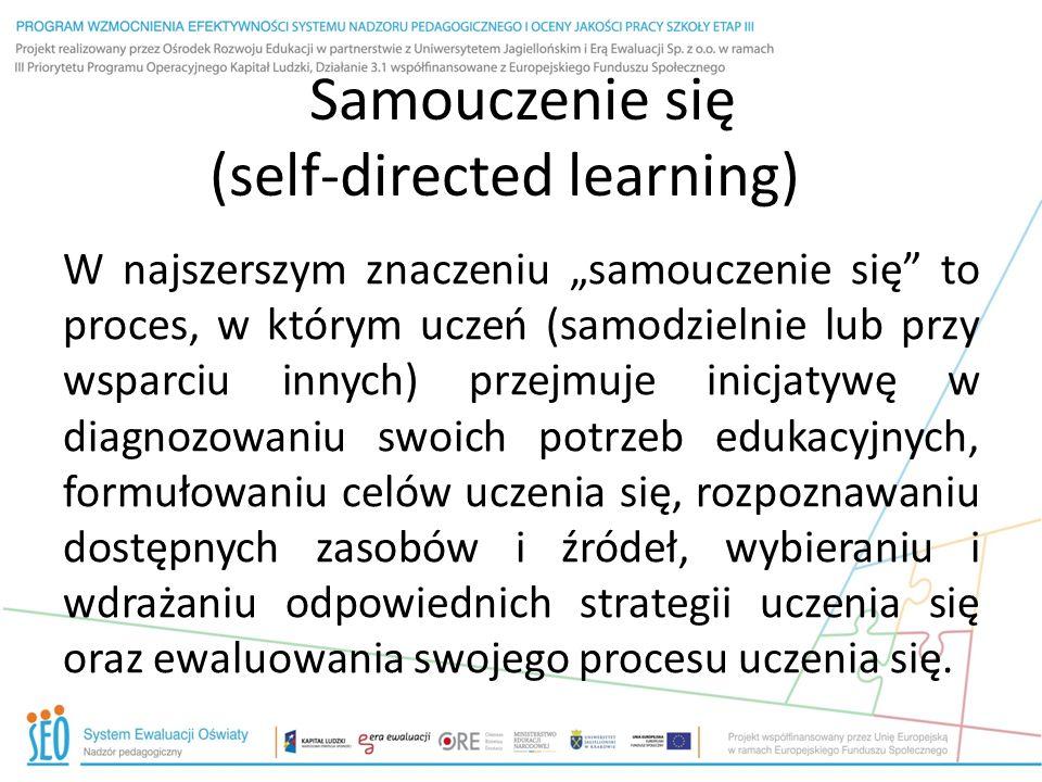 Samouczenie się (self-directed learning)