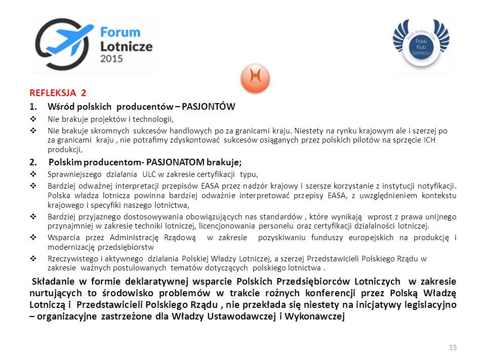 REFLEKSJA 2 Wśród polskich producentów – PASJONTÓW. Nie brakuje projektów i technologii,