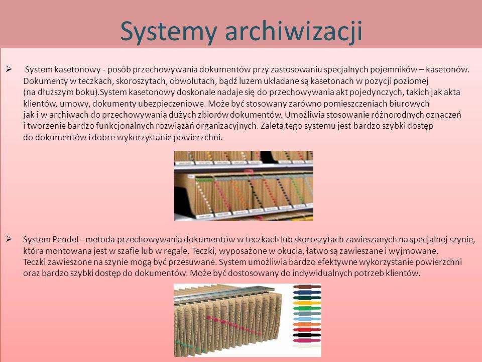 Systemy archiwizacji