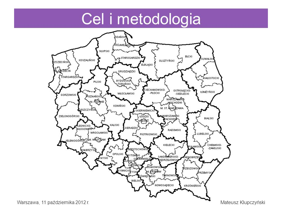 Cel i metodologia Warszawa, 11 października 2012 r.