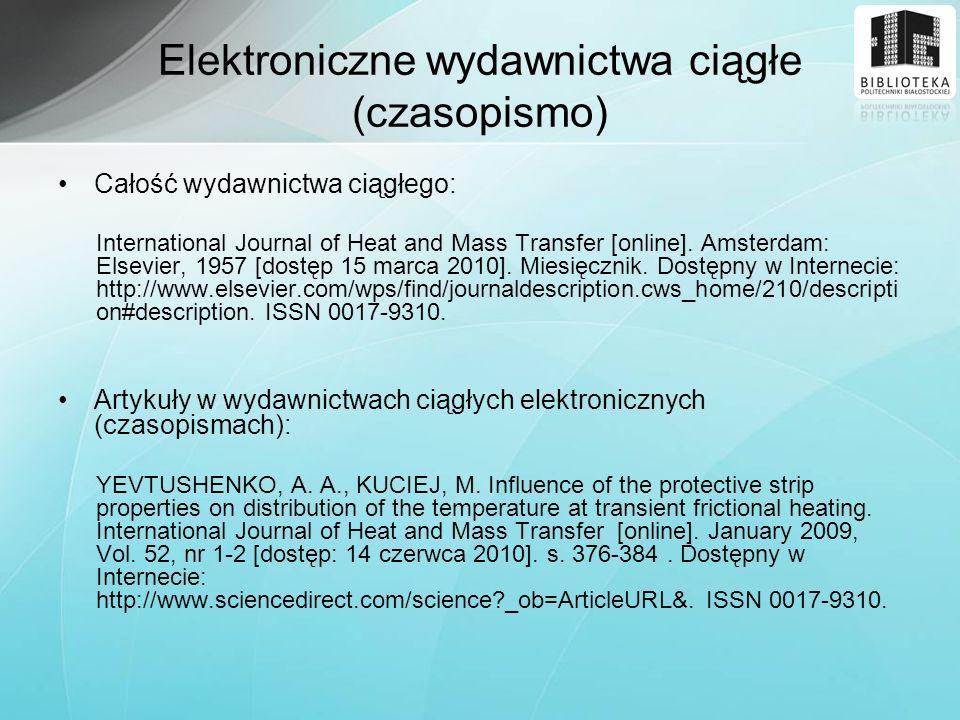 Elektroniczne wydawnictwa ciągłe (czasopismo)