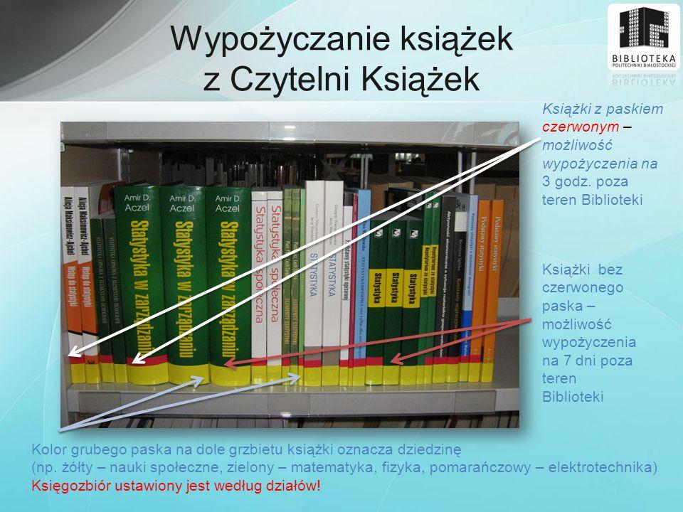 Wypożyczanie książek z Czytelni Książek