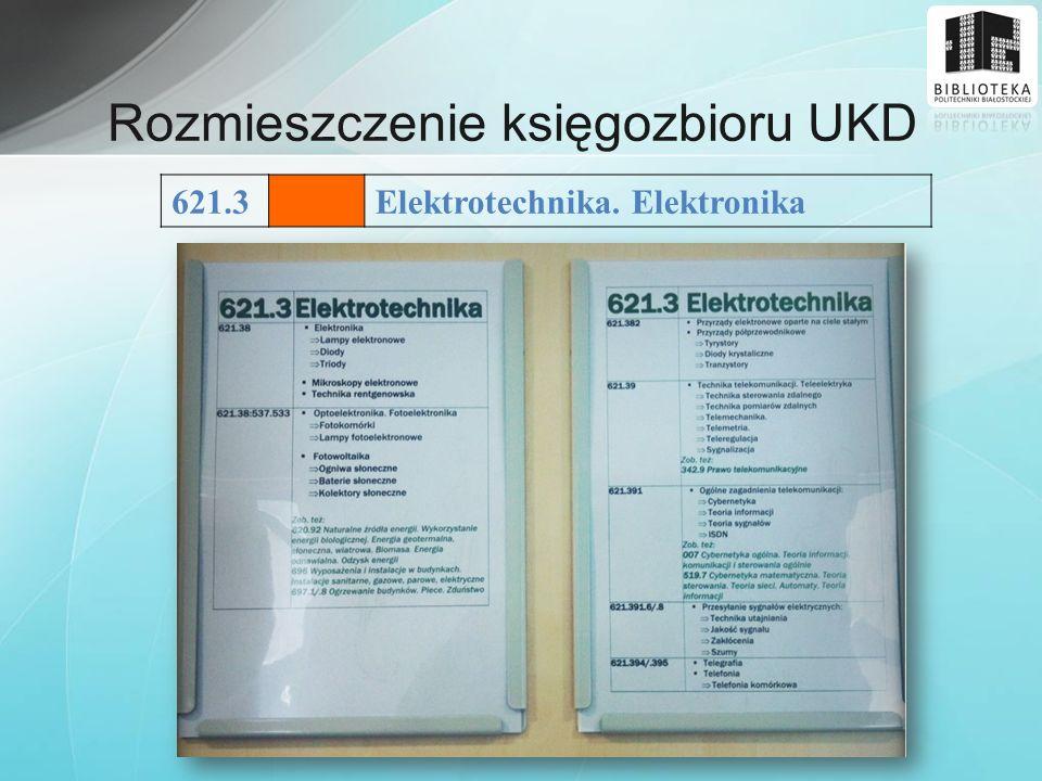 Rozmieszczenie księgozbioru UKD
