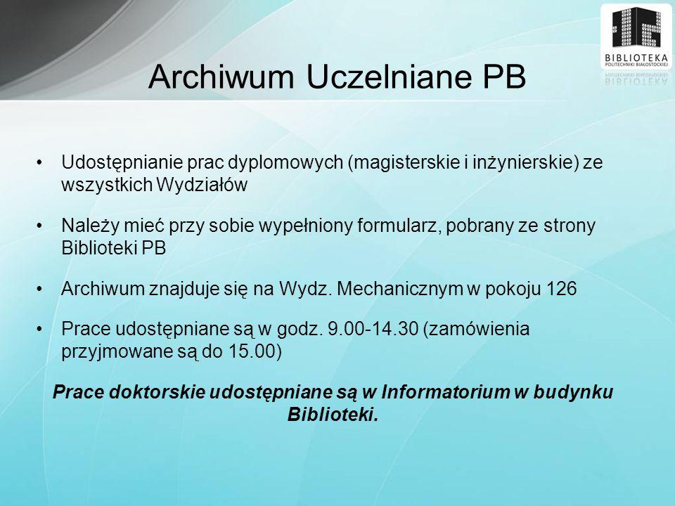 Archiwum Uczelniane PB