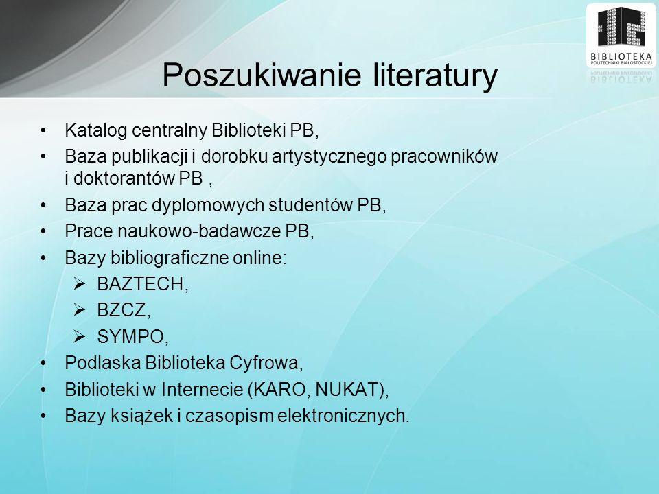Poszukiwanie literatury