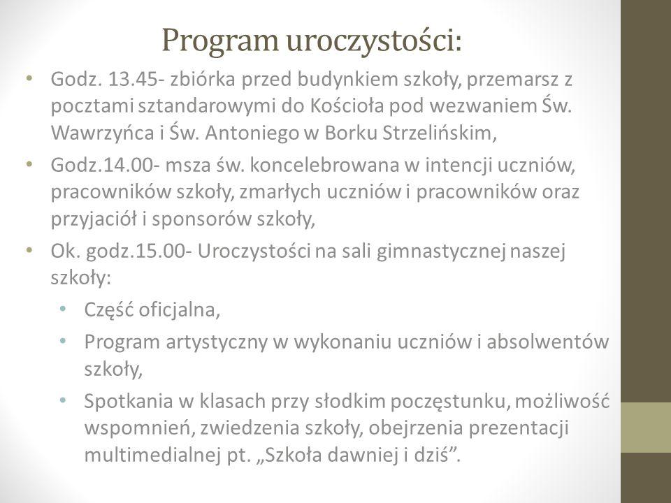 Program uroczystości: