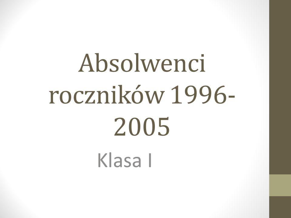 Absolwenci roczników 1996- 2005