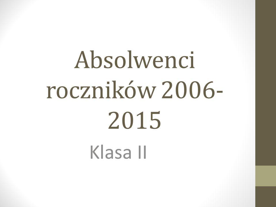 Absolwenci roczników 2006- 2015