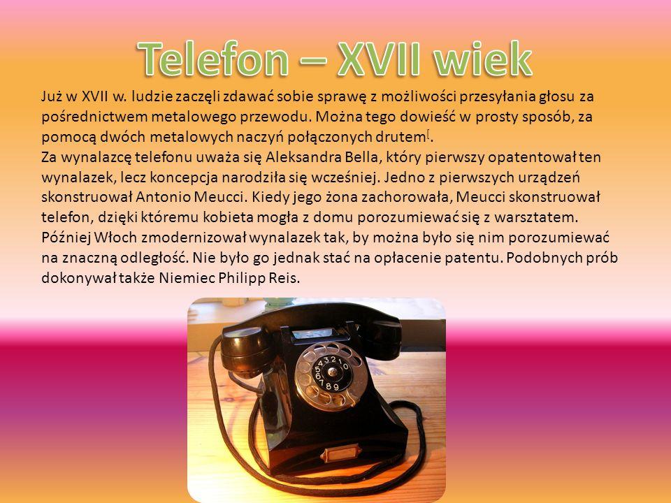 Telefon – XVII wiek
