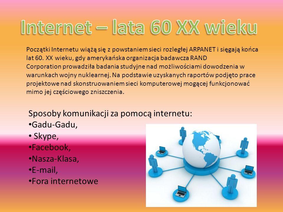 Internet – lata 60 XX wieku