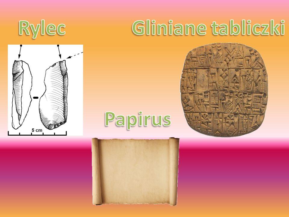 Rylec Gliniane tabliczki Papirus