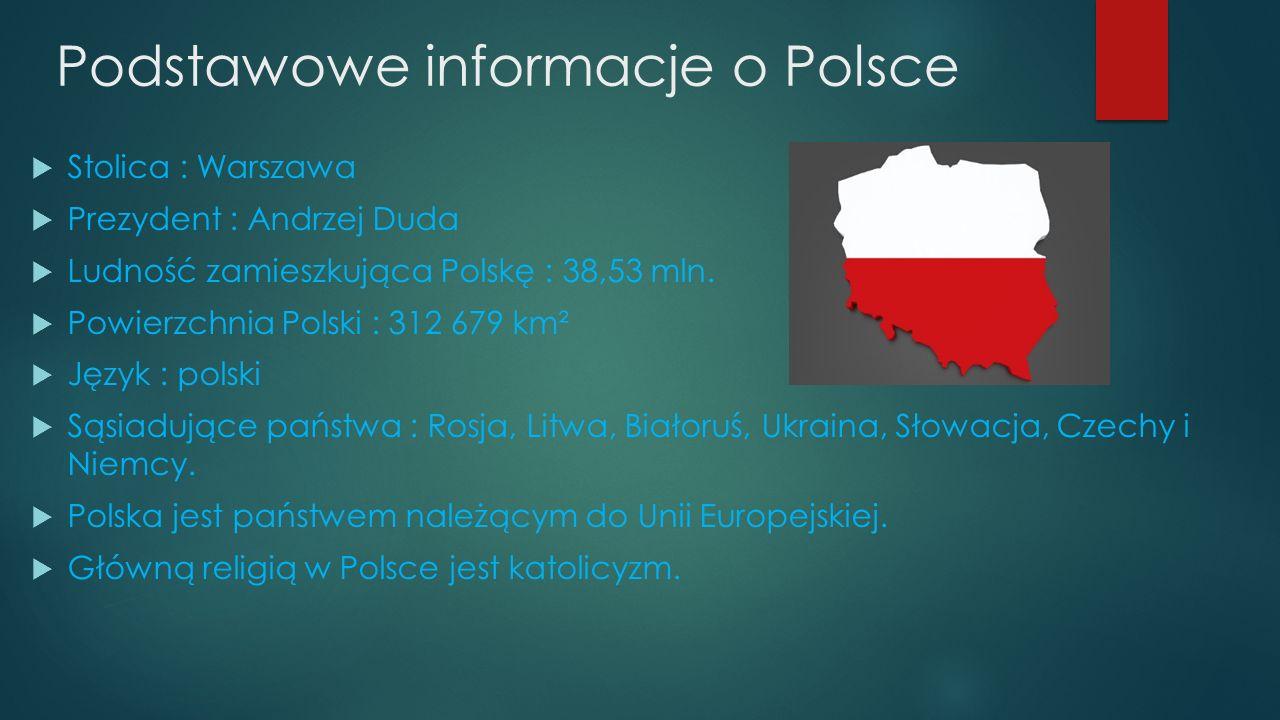 Podstawowe informacje o Polsce