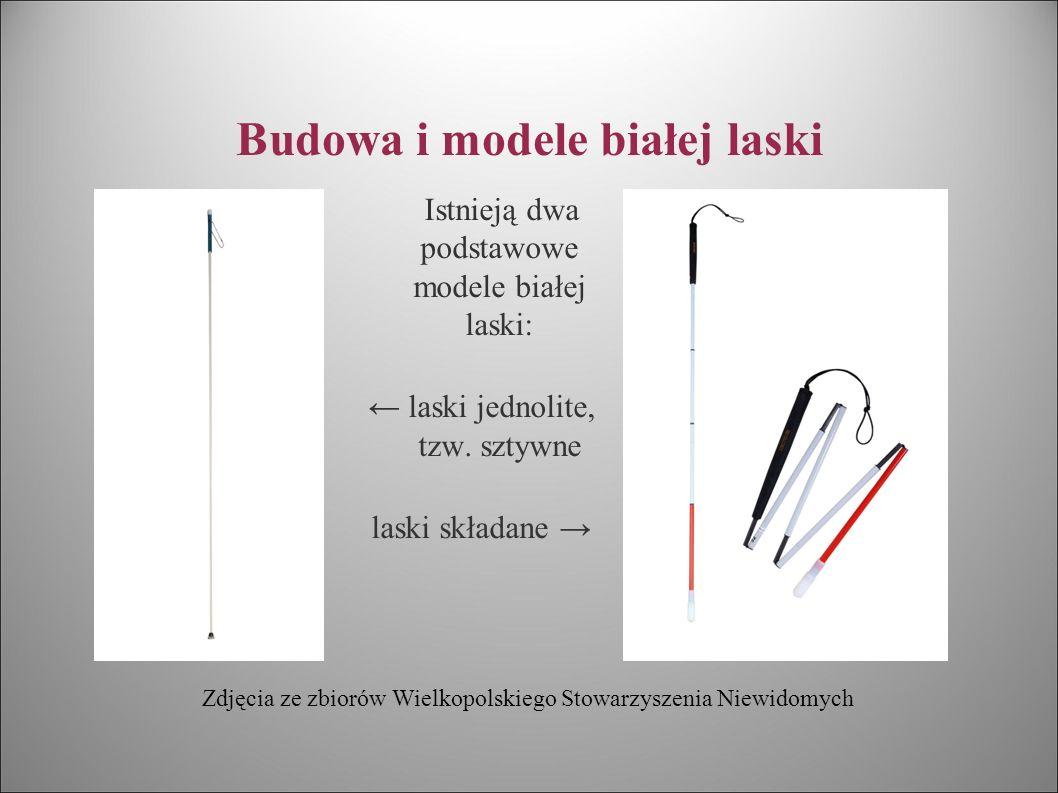 Budowa i modele białej laski