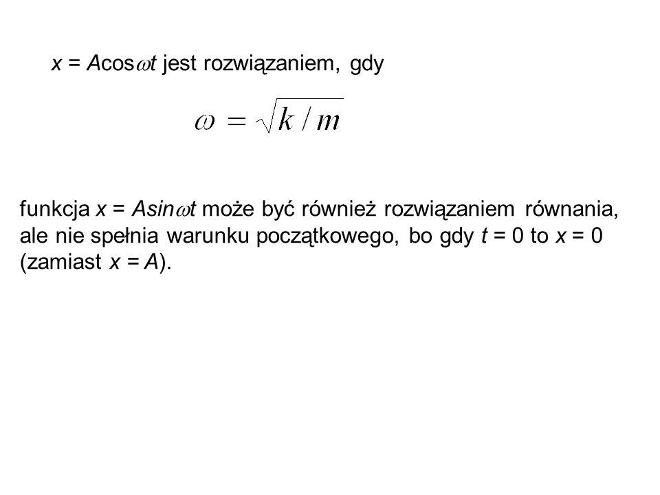 x = Acost jest rozwiązaniem, gdy