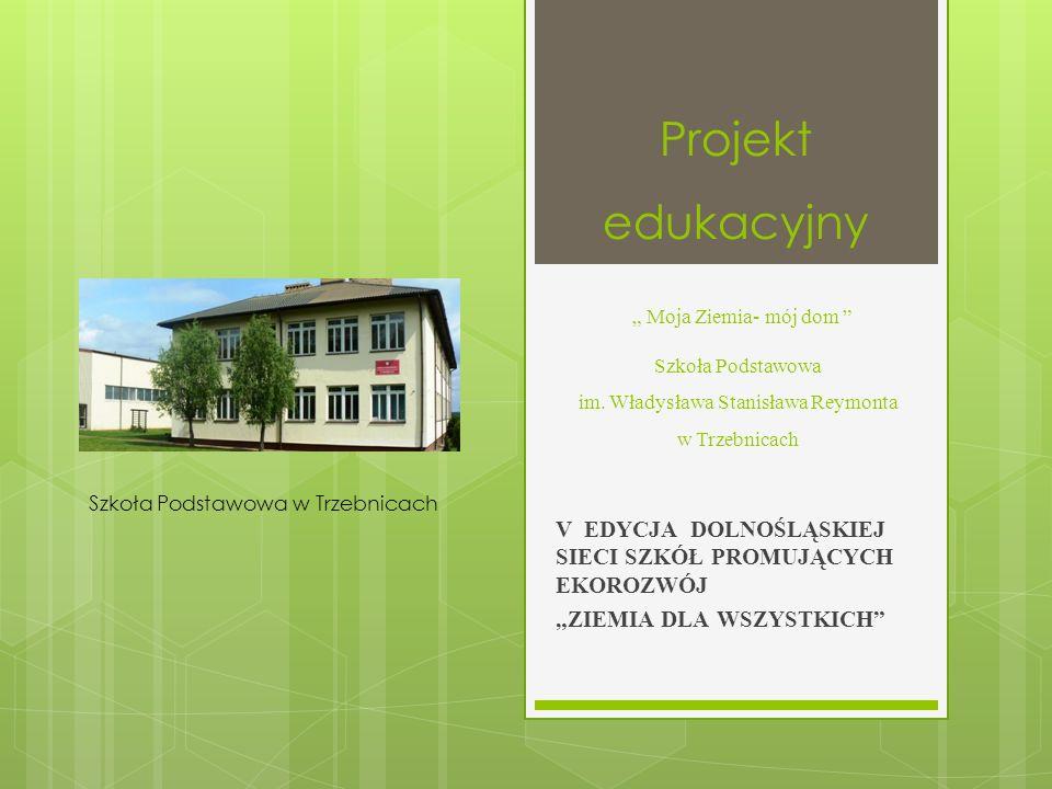 """Projekt edukacyjny """" Moja Ziemia- mój dom Szkoła Podstawowa im"""