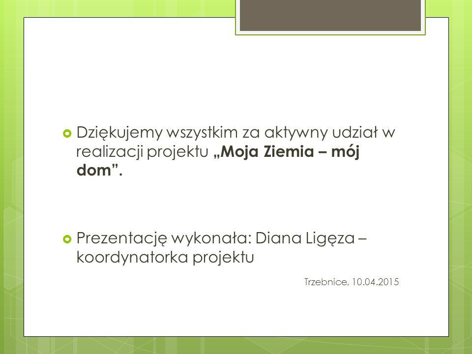 Prezentację wykonała: Diana Ligęza – koordynatorka projektu