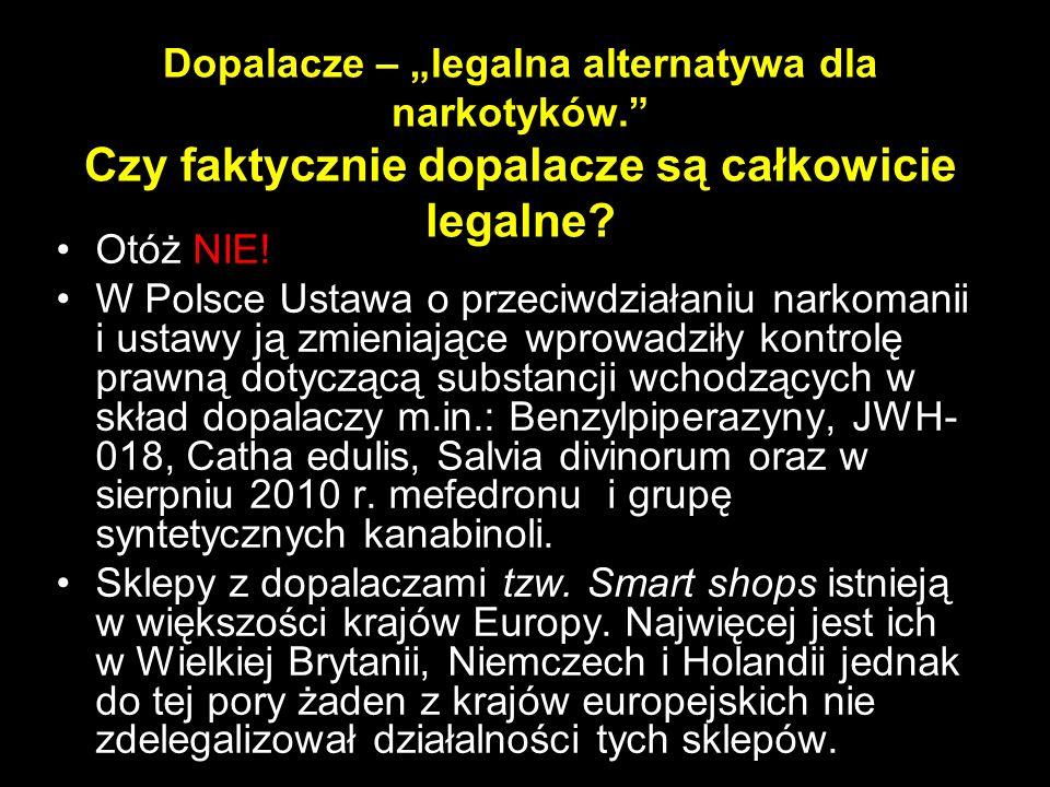 """Dopalacze – """"legalna alternatywa dla narkotyków"""