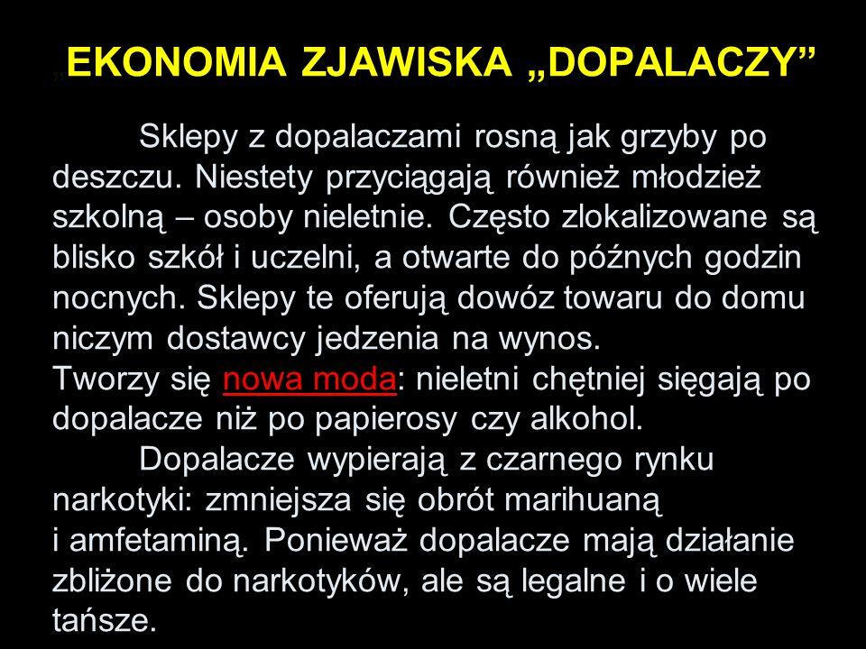 """""""EKONOMIA ZJAWISKA """"DOPALACZY"""