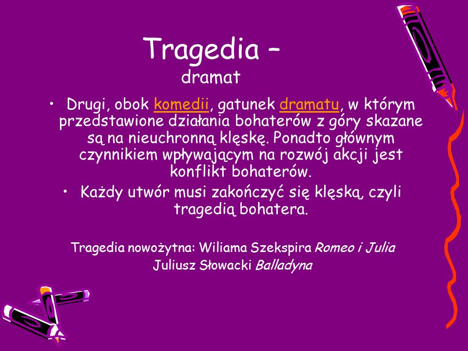Tragedia – dramat