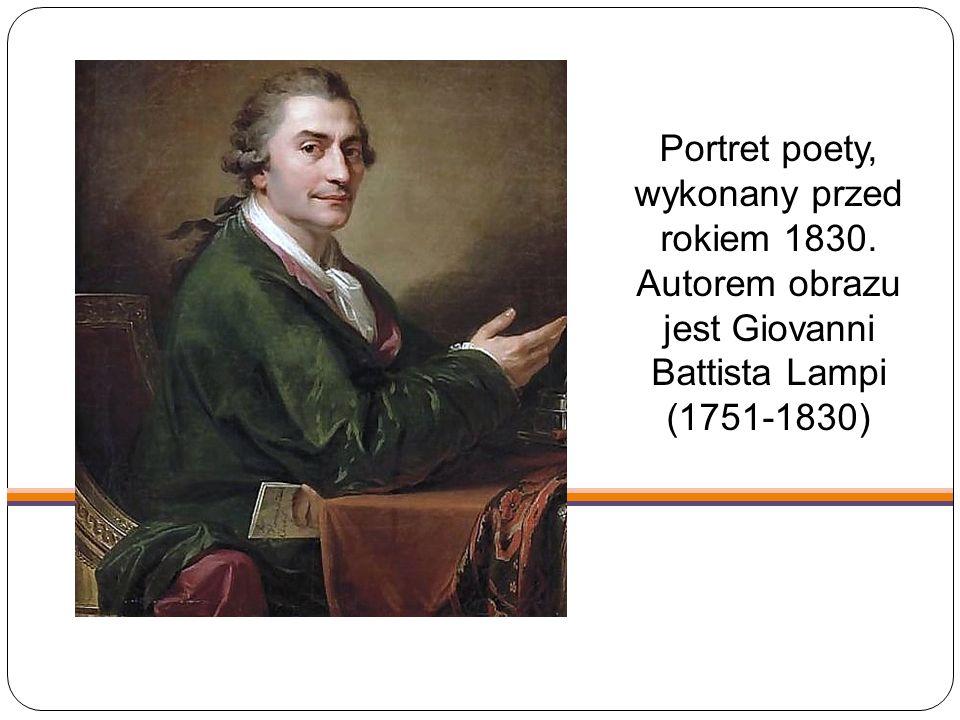 Portret poety, wykonany przed rokiem 1830
