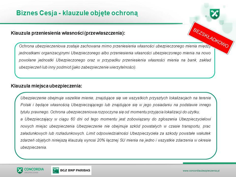 Biznes Cesja - klauzule objęte ochroną