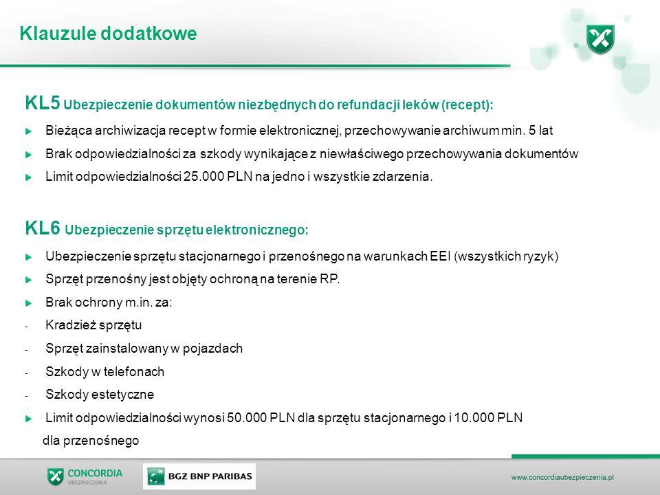 KL5 Ubezpieczenie dokumentów niezbędnych do refundacji leków (recept):