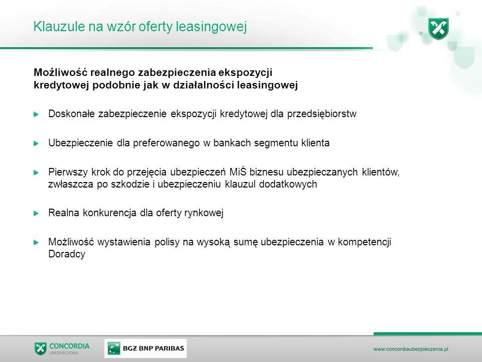 Klauzule na wzór oferty leasingowej