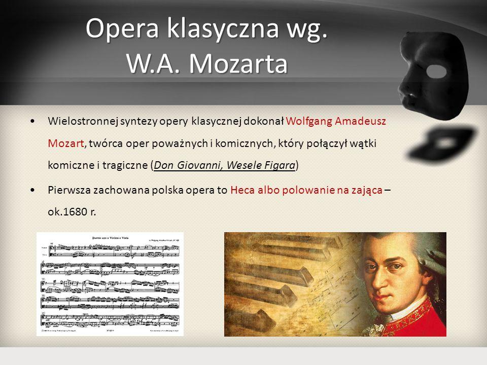 Opera klasyczna wg. W.A. Mozarta
