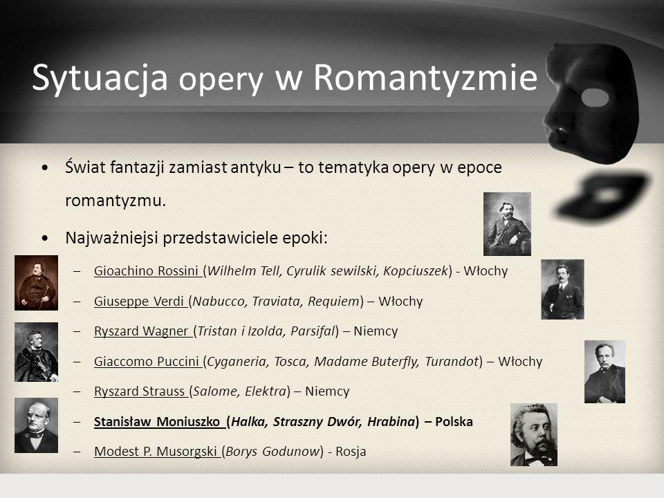 Sytuacja opery w Romantyzmie