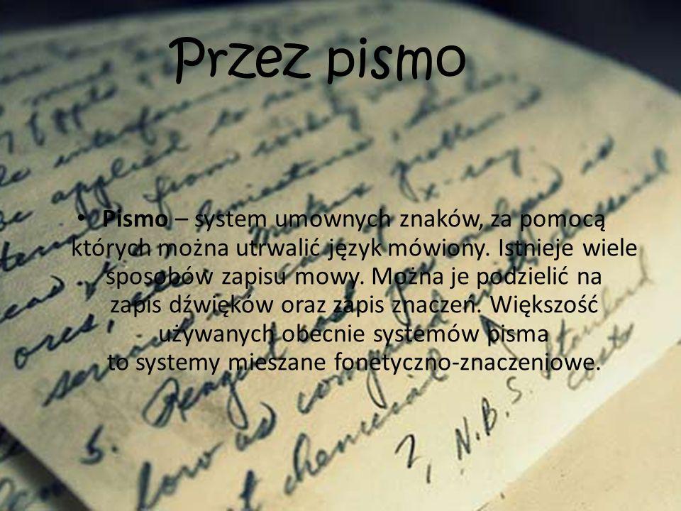 Przez pismo
