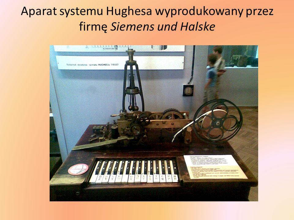Aparat systemu Hughesa wyprodukowany przez firmę Siemens und Halske