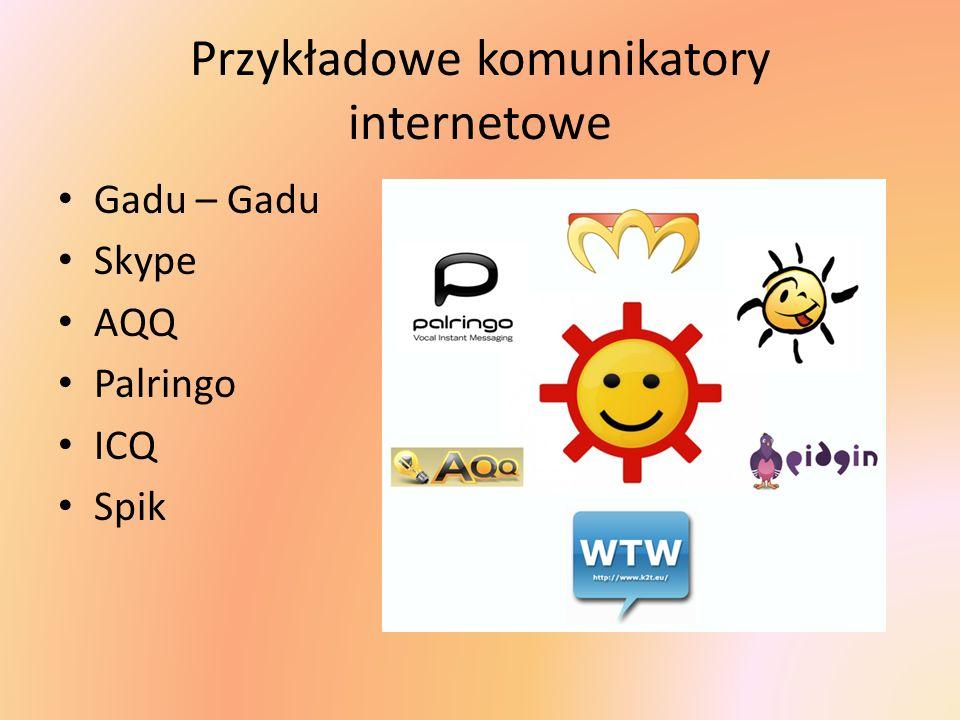 Przykładowe komunikatory internetowe