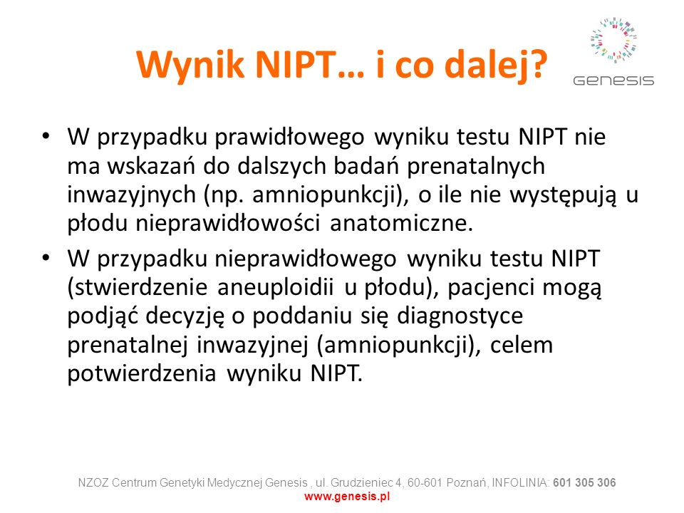 Wynik NIPT… i co dalej