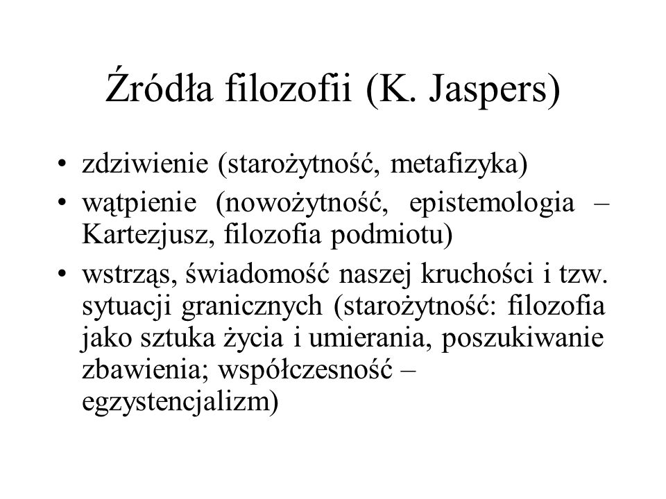 Źródła filozofii (K. Jaspers)