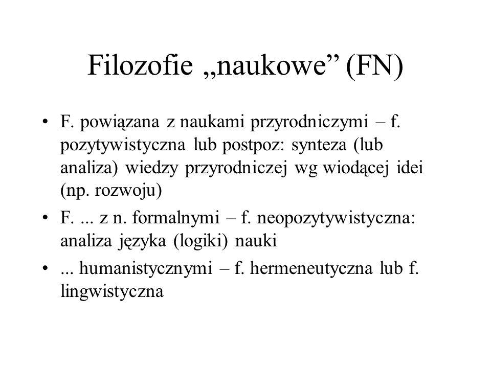 "Filozofie ""naukowe (FN)"