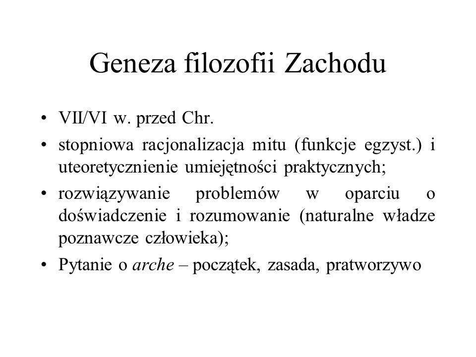Geneza filozofii Zachodu