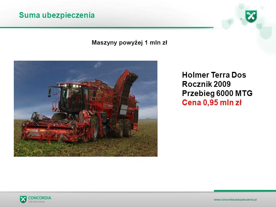 Suma ubezpieczenia Holmer Terra Dos Rocznik 2009 Przebieg 6000 MTG