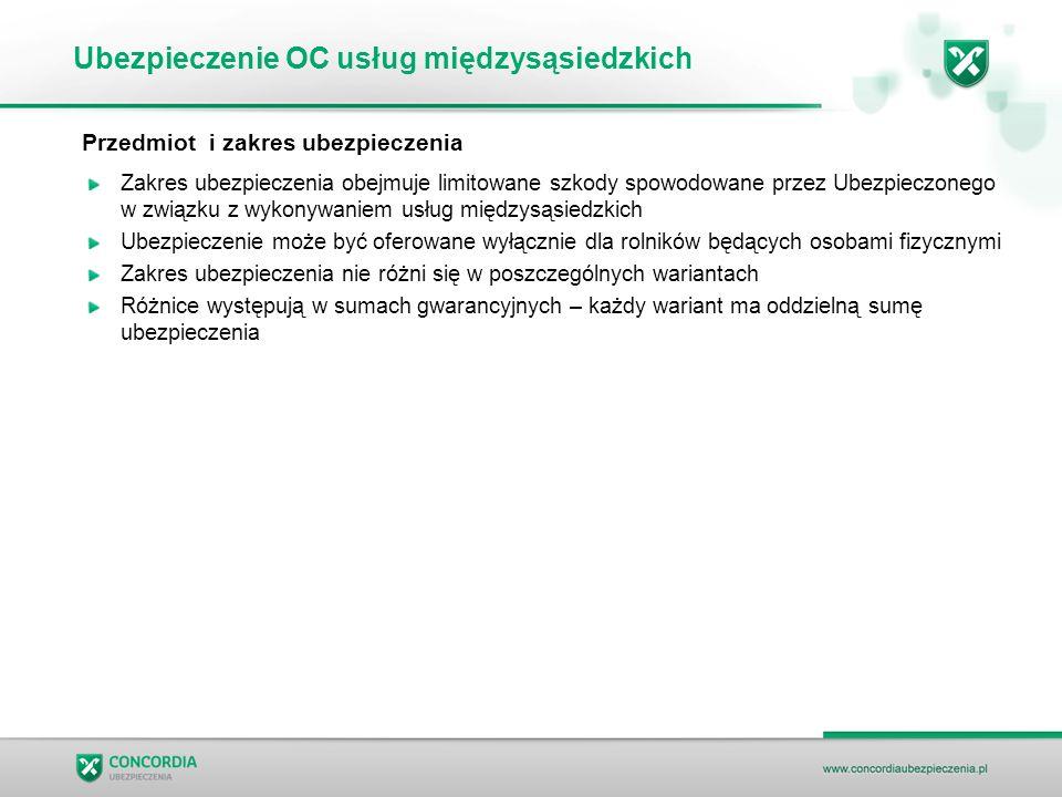 Ubezpieczenie OC usług międzysąsiedzkich